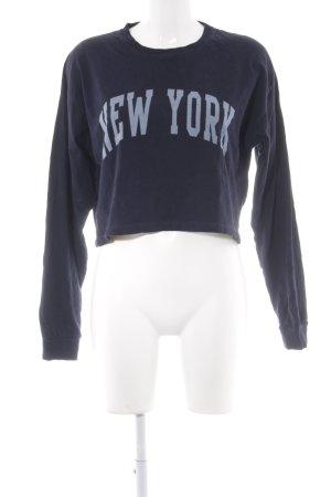 Brandy & Melville Sweatshirt donkerblauw-lichtblauw geplaatste afdruk