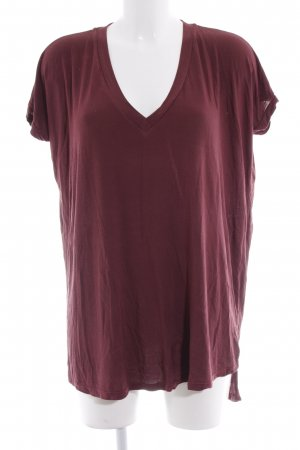 Brandy & Melville T-Shirt bordeauxrot Casual-Look