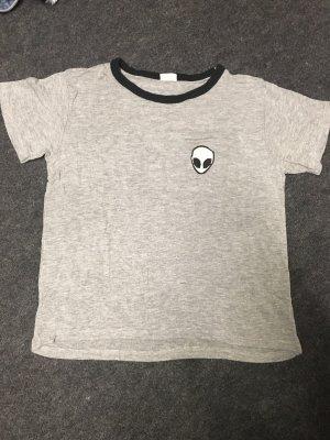 Brandy Melville T-Shirt grau Alien XS oversize 34