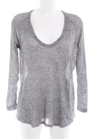 Brandy & Melville V-Ausschnitt-Pullover grau meliert Casual-Look