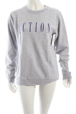 Brashy Couture Sweatshirt gris-bleu foncé lettrage imprimé style athlétique