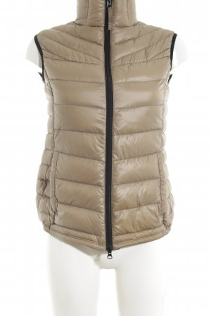 Brasi&Brasi Down Vest natural white quilting pattern wet-look