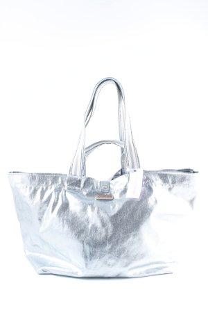 Brasi&Brasi Shopper kornblumenblau Metallic-Optik