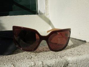 braun beige Strasssteine Sonnenbrille von Azzaro