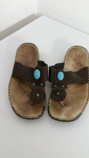 Braun / blaue damen Schuhe