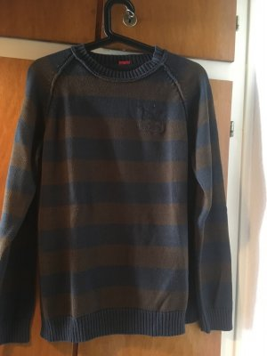 s.Oliver Long Sweater brown-dark blue