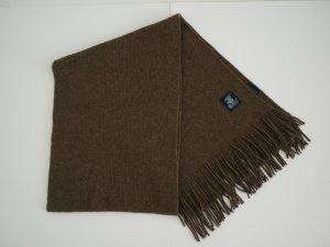 Braun/bronzefarbener Schal aus Schurwolle
