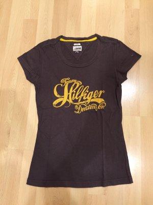 Braun/gelbes Tommy Hilfiger Shirt