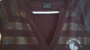 Braun/ Goldenes T.shirt