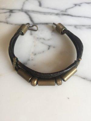Braun goldenes Vintage Armband