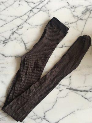 Braun grau gestreifte blickdichte Strumpfhose von Falke NEU