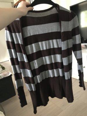 Chaqueta estilo camisa marrón oscuro-gris