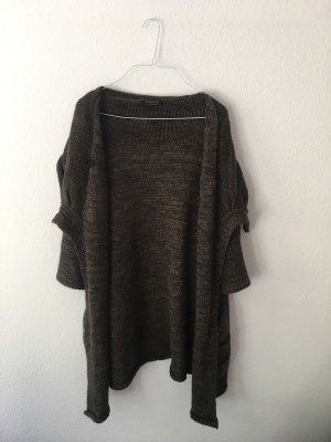 Apanage Knitted Cardigan dark green-dark brown mohair