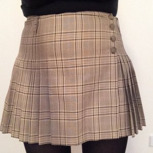 Agnes Plaid Skirt multicolored cotton