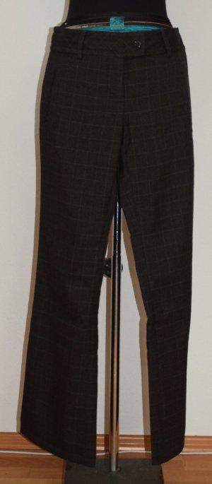 Braun Karrierte Damenhose