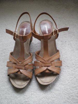Graceland Strapped High-Heeled Sandals brown-dark orange