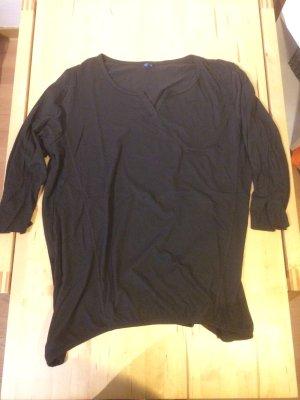 braun- schwarzes T-Shirt , 3/4 Arm , Größe 46