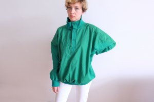 Windbreaker green-cadet blue cotton