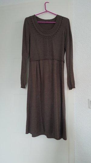 Braun strick Kleid - Wrap