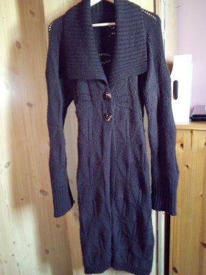 Knitted Coat black brown