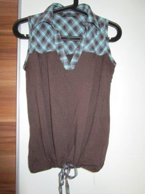 braun-türkise Bluse bzw. Top
