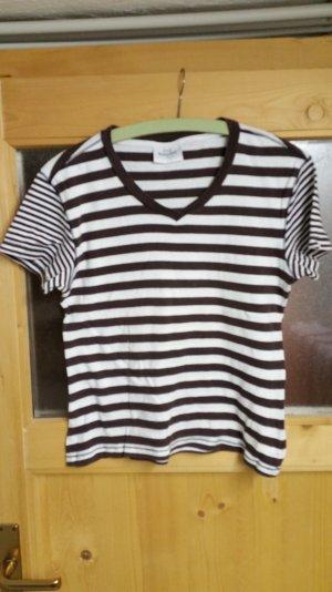 Braun / weißes T-shirt