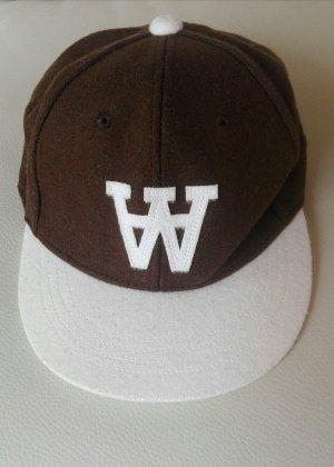 braun weißes Unisex Wood Wood Australien Schirmmütze/Cap