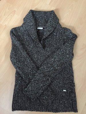 Braun/wollweiß melierter Pullover von Street One in Größe 40
