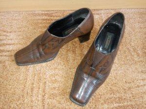 5th Avenue Slip-on brun noir-noir cuir