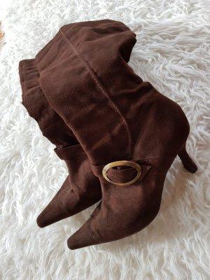Mango High Heel Boots brown