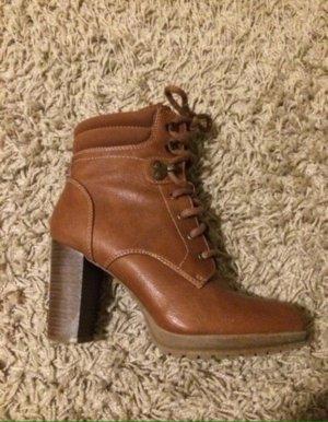 braune Ankle Boots, 37 WIE NEU
