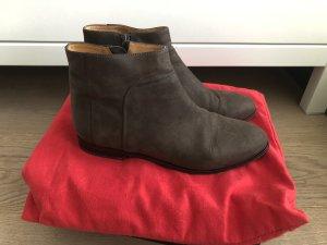 Botas de tobillo marrón oscuro