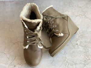 Braune ankle Boots Stiefel mit Absatz