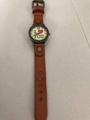 Braune Armbanduhr / Uhr