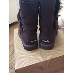 Braune Aukoala Boots Stiefel