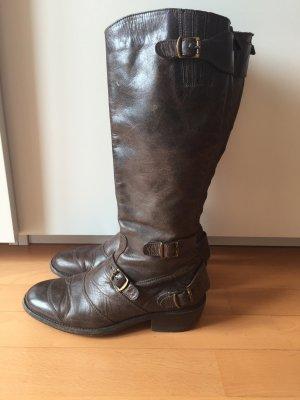 Braune Belstaff Lederstiefel, Gr 38, kaum getragen