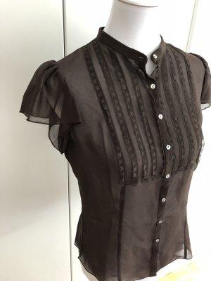Braune Bluse aus 100% Seide von M.S.S.P.