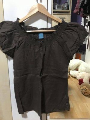 Braune Bluse mit 2 Knöpfen