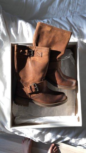 Bullboxer Slip-on Booties brown-cognac-coloured leather