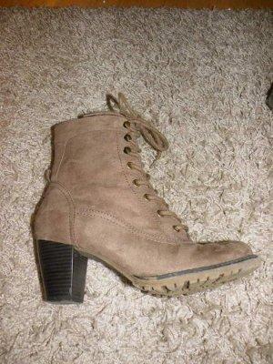 braune Boots, Größe 37