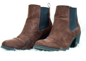 H&M Botas deslizantes negro-coñac