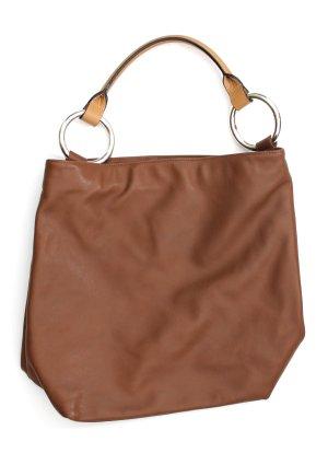 braune Bügeltasche - Shopper in braun / beige
