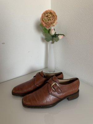 Braune Business Leder Schuhe Monks von Luca grossi