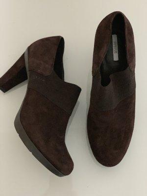 Braune Business Schuhe Stiefelette