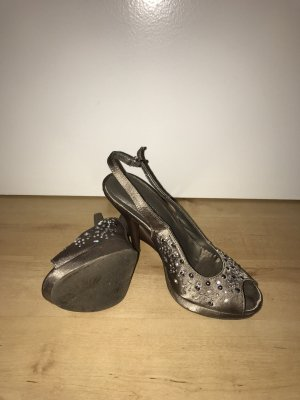 Catwalk Backless Pumps grey brown
