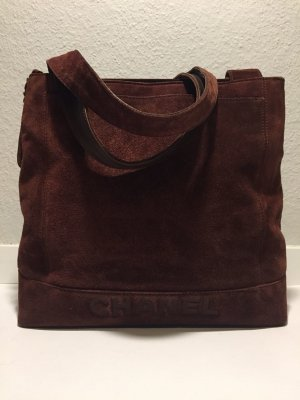 Braune CHANEL Wildleder Handtasche