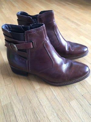 Braune Chelsea Boots in Größe 38
