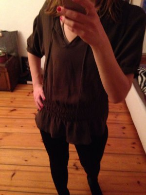 Zara Blouse-chemisier multicolore mousseline de soie