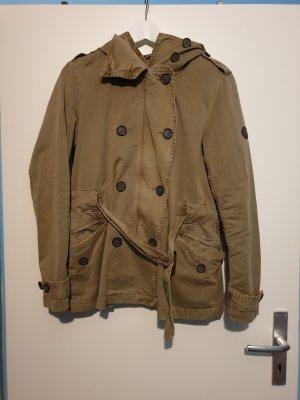 Closed Outdoor Jacket khaki cotton