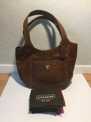 Braune COACH Leder-Handtasche